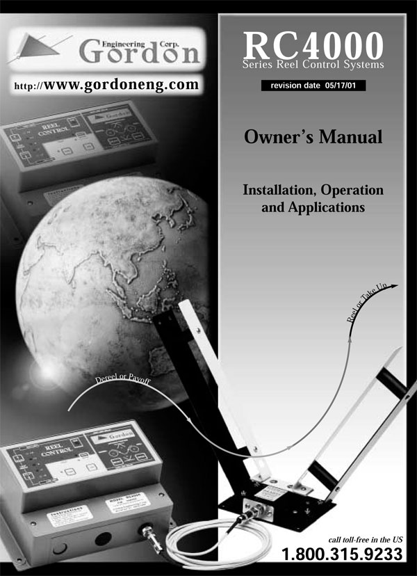 RC4000 Operating Manual Cover