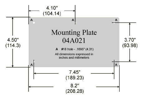 04A021 Mounting Plate