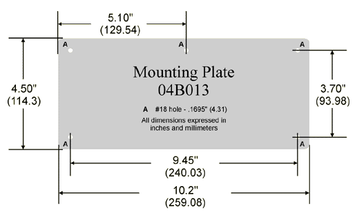 04B013 Mounting Plate